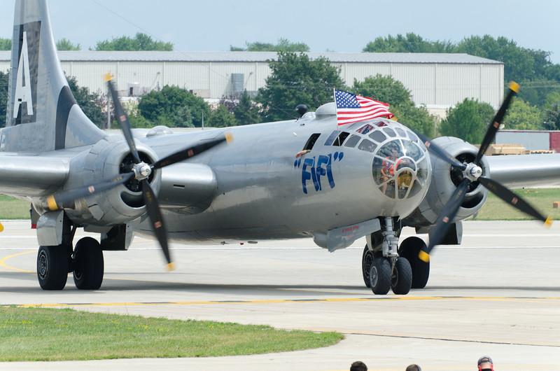 B-29 FiFi Taxiing In
