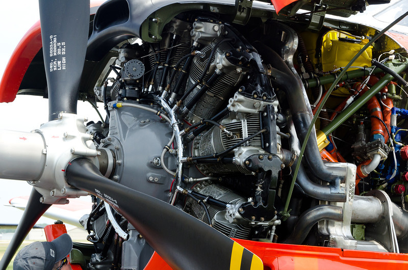 Wright 1820 Engine in North American T-28 Trojan Trainer, the replacement for the T-6 Texas.