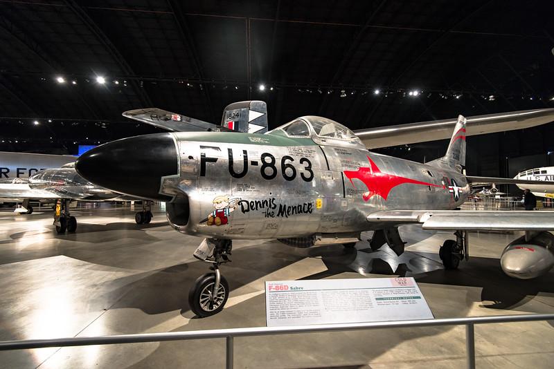 North American F-86D Sabre Dog Interceptor, early 50s