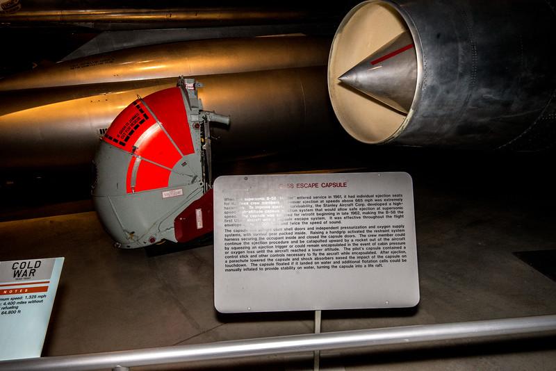 B-58 Hustler supersonic escape capsule.