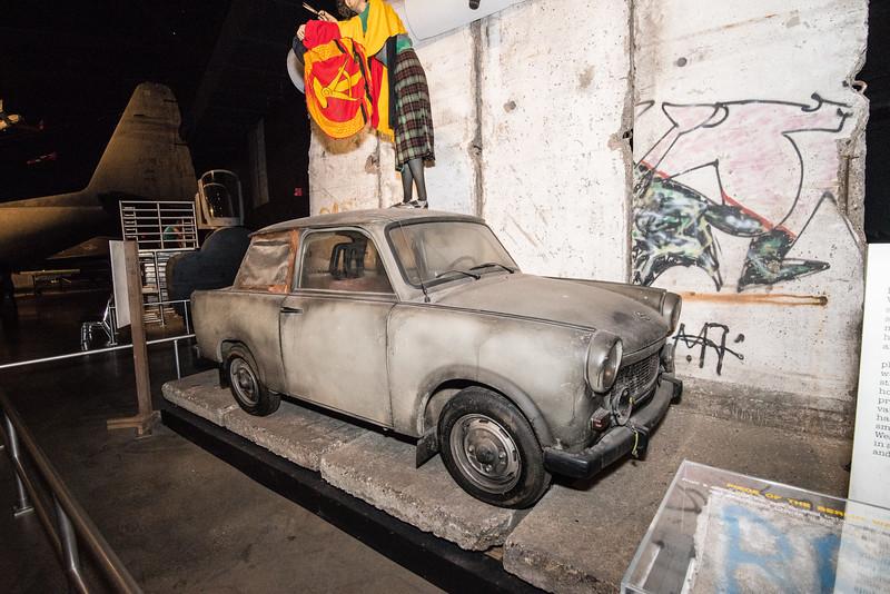 Russian Trablant beside Berlin Wall