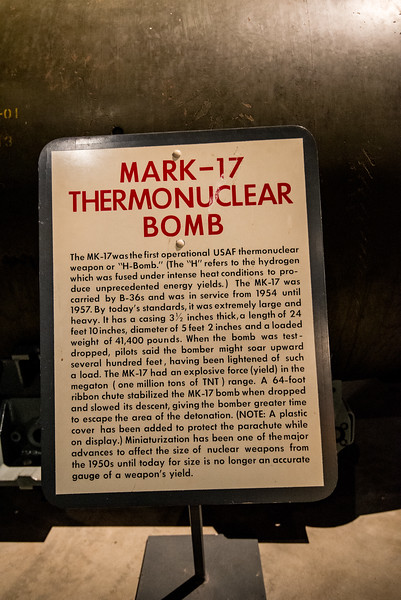 Mark 17 Nuclear Bomb for the B-36, first intercontinental range bomber.1
