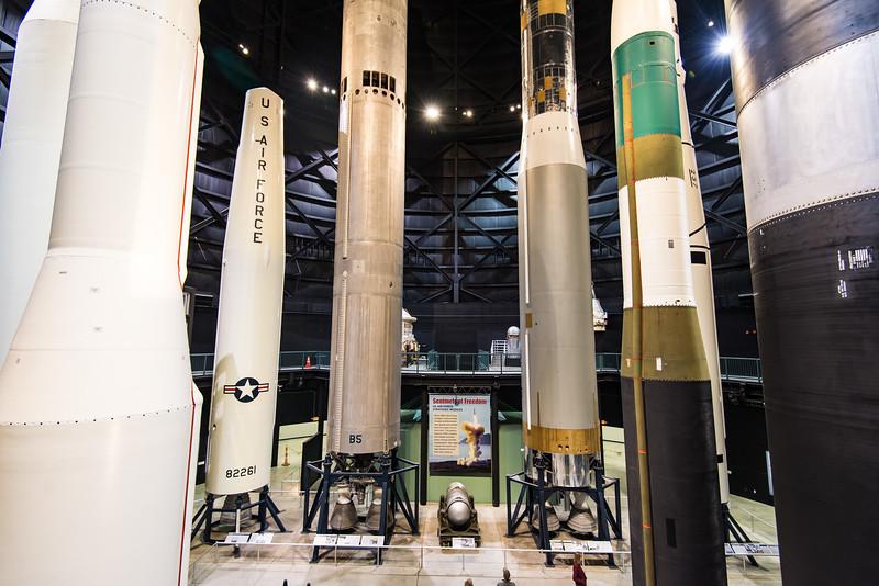 Minuteman 1, Thor (US INSIG) Titan 2, Titan 1, MM III (w green), Peacekeeper