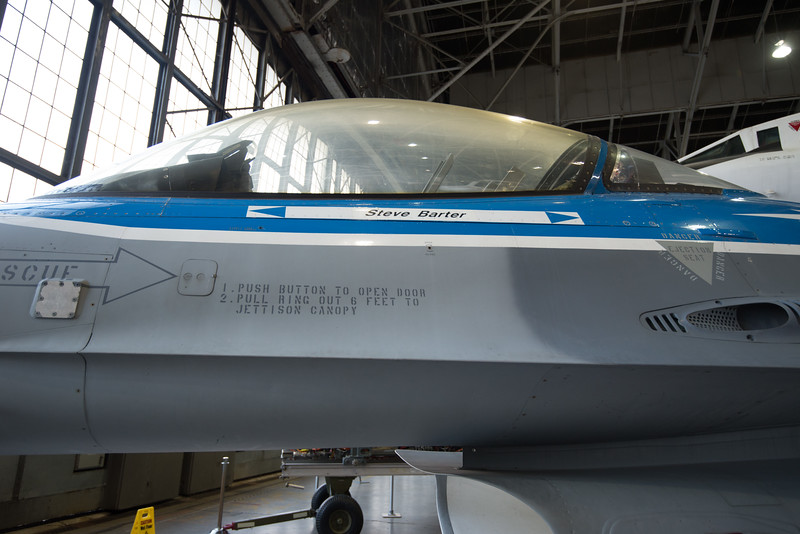 General Dynamics NF-16 Advanced Fighter Technology (AFTI) demonstrator.