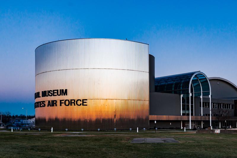 USAF Museum, Dayton Nov15, Sunset