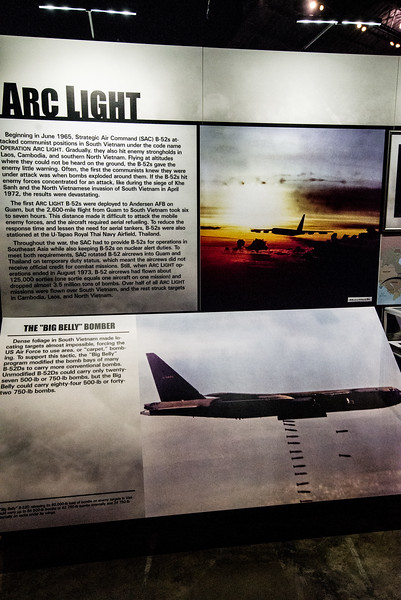 B-52D Bomb Bay Mod = 85 Mk 82 500 lb. bombs = Arc Light