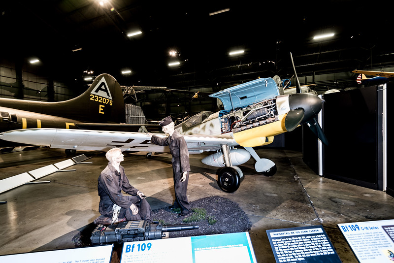 ME Bf 109G, 1930s design. Auto LE Slats