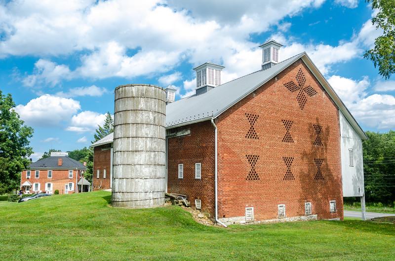 Classic barn brickwork, southern PA.