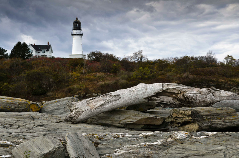 Lighthouse with Log