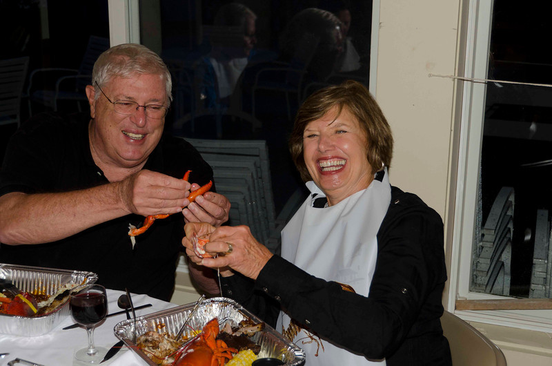 Dianne eating her THIRD lobster was Walt tries to cut her off.
