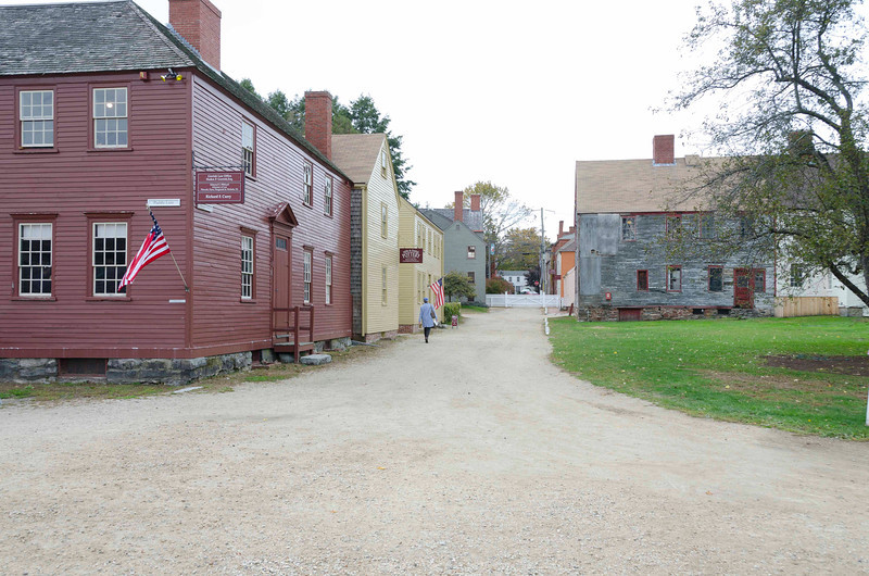 Strawbery Banke Historic District, Portsmouth NH<br /> <br /> Jones House 1790 (red), Cotton House 1835 (yel), Yeaton House 1795 (grey)