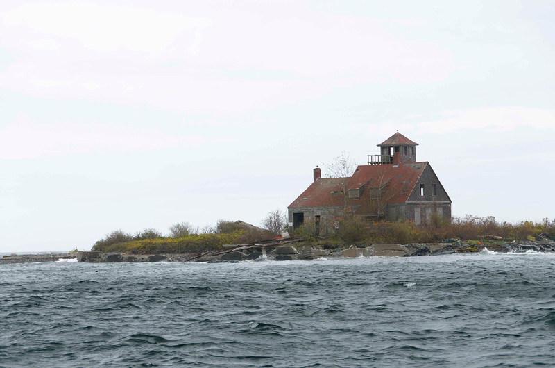 Ken's House (actually Abandoned Lifesaving Station, Wood Island.)