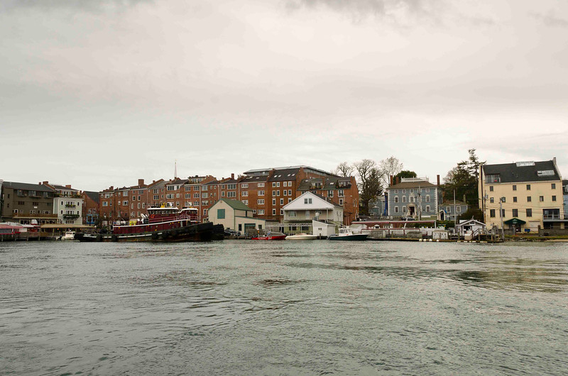 Colonial Era Warehouses Line the Harbor