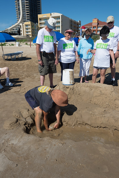 Dennis, Our Instructor, Teaches Making Sand Paddies