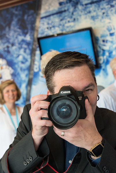 Ray, the Alumni Association Photographer and I trade shots