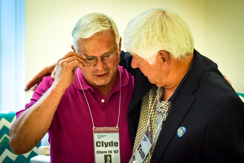 Tearful Reunion - Clyde Clem and Tom - Classmates, ROTC, Flying School and Nam - lots of history together