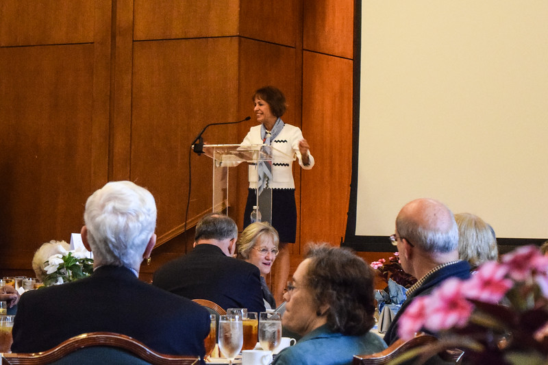 Chancellor Carol Folt Addresses the Old Timers Luncheon    (jt)