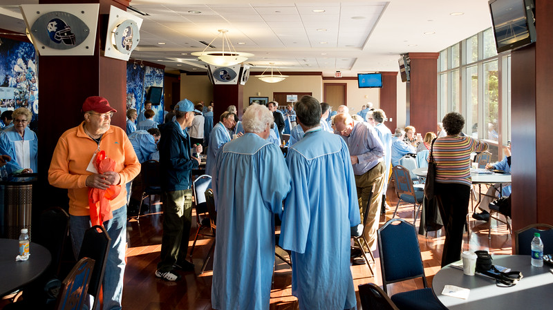 Gathering for the Commencement Procession, Sunday Morning