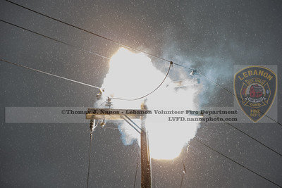 Utility Pole Fire - Rt 87/207, Lebanon, CT - 5/23/20