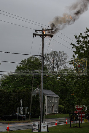 Top of the pole burning