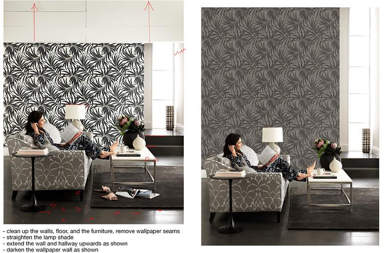 Replace wallpaper/fix walls and floor
