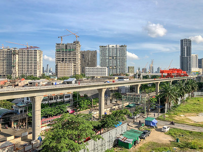 Skytrain construction work