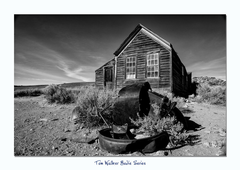 Car and House in Bodie State Park.