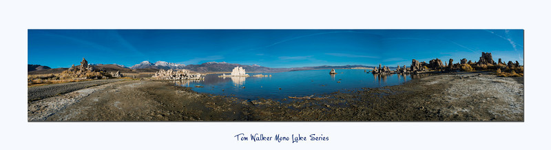 Pano of the view at the end of the boardwalk at the South Tufa's with Mono Lake in front.  - Tom Walker Photography