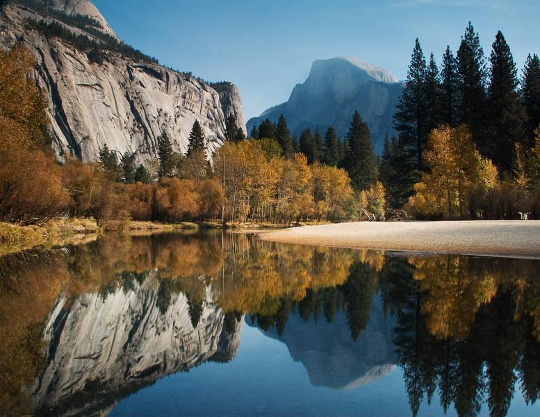 Yosemite Half Dome from the Secret Spot, Novmber 2007