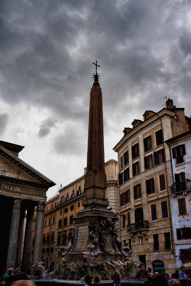 Rome during a thunder storm.