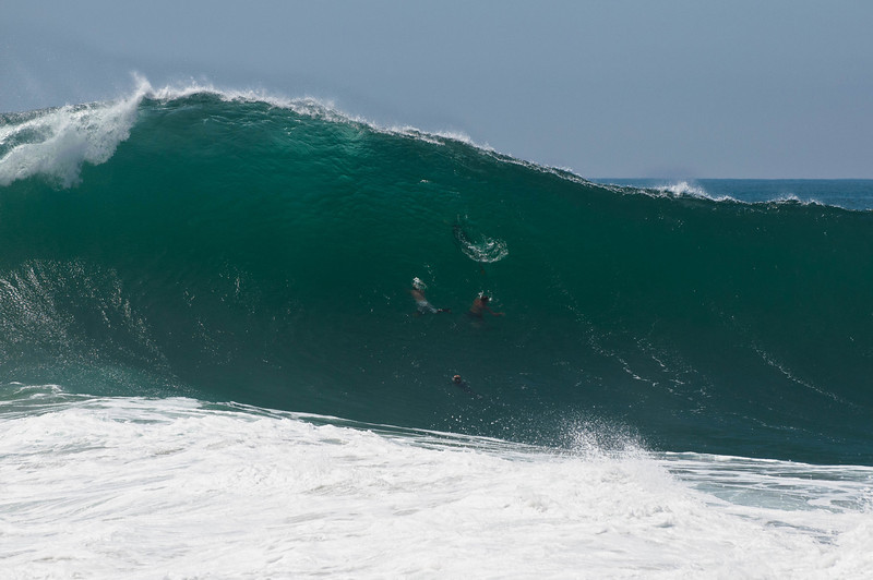 Fishbowl - Newport Wedge at 20 plus feet during the Fall 2011 Swell.