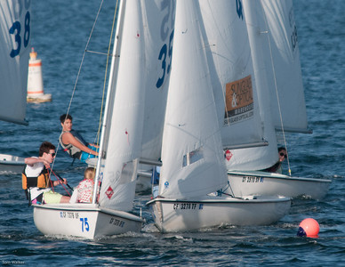 Thomas and Madie beating the pack to round the Windward mark.
