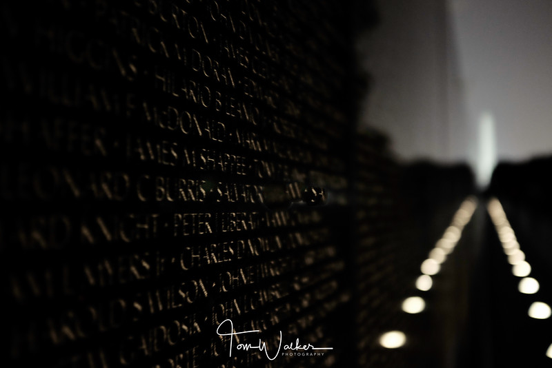 Vietnam Memorial at Night