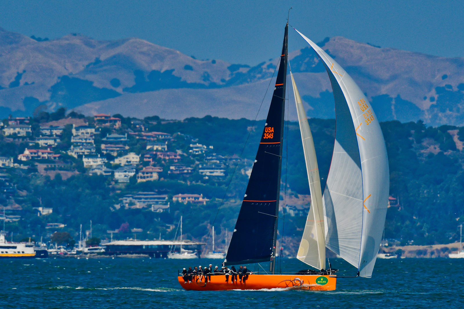 9/15/172:38:15 AM---On the water action photos of the 2017 Rolex Big Boat Series Regatta, at the St. Francis Yacht Club, San Francisco, CA | Tom Walker