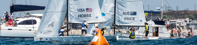 8/5/172:08:39 AM---On the water action photos of the World Sailing Youth Match Racing Championships  Match regatta hosted by Balboa Yacht Club | Photo Tom Walker