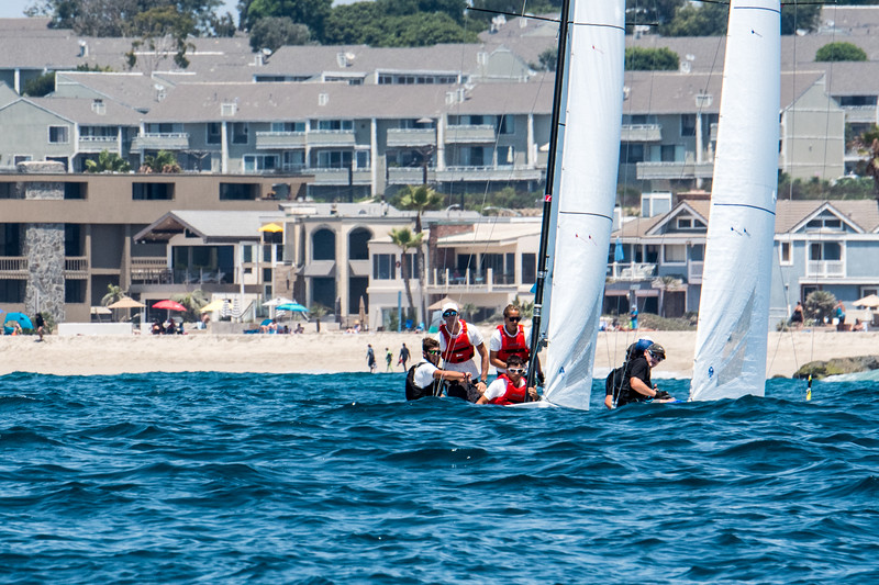 8/5/172:06:03 AM---On the water action photos of the World Sailing Youth Match Racing Championships  Match regatta hosted by Balboa Yacht Club | Photo Tom Walker