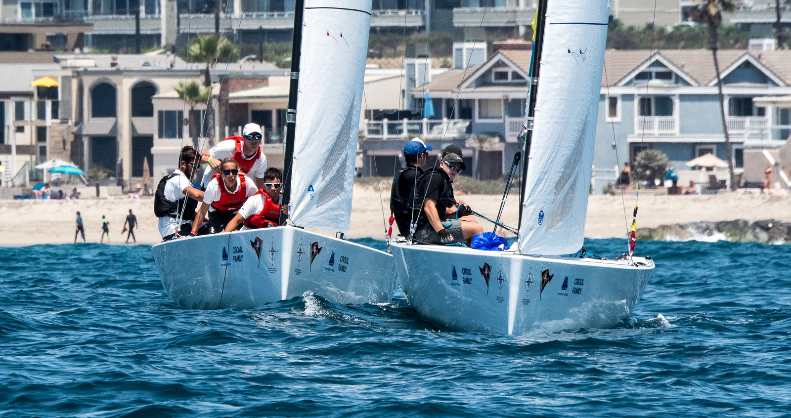 8/5/172:06:06 AM---On the water action photos of the World Sailing Youth Match Racing Championships  Match regatta hosted by Balboa Yacht Club | Photo Tom Walker