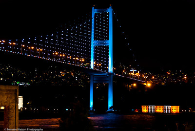 Bosphorus Light Show  |  2011  Bosphorus Bridge in Ortaköy‎  |  Istanbul, Turkey