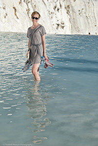 Posing in a Natural Pool  |  2011  Pamukkale, Turkey
