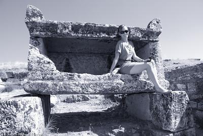 Tomb Goddess  |  2011  Hierapolis ruins  |  Pamukkale, Turkey