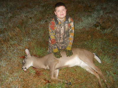 Peyton Smith with his first buck (7 point)