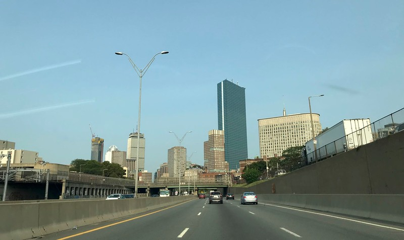 The traffic wasn't bad leaving the city.