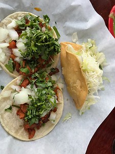 """We go to """"Taco Tuesday"""" almost every night in our home town. Then I left on this trip!"""