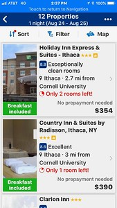 Wow! Ithaca, New York? Pricey!