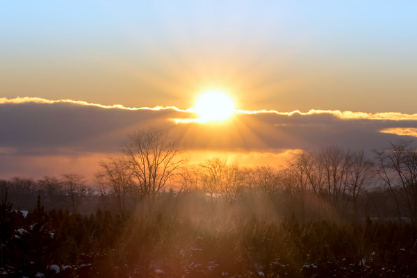 Sunrise In The Country - Yellow Springs Ohio 1-8-2017