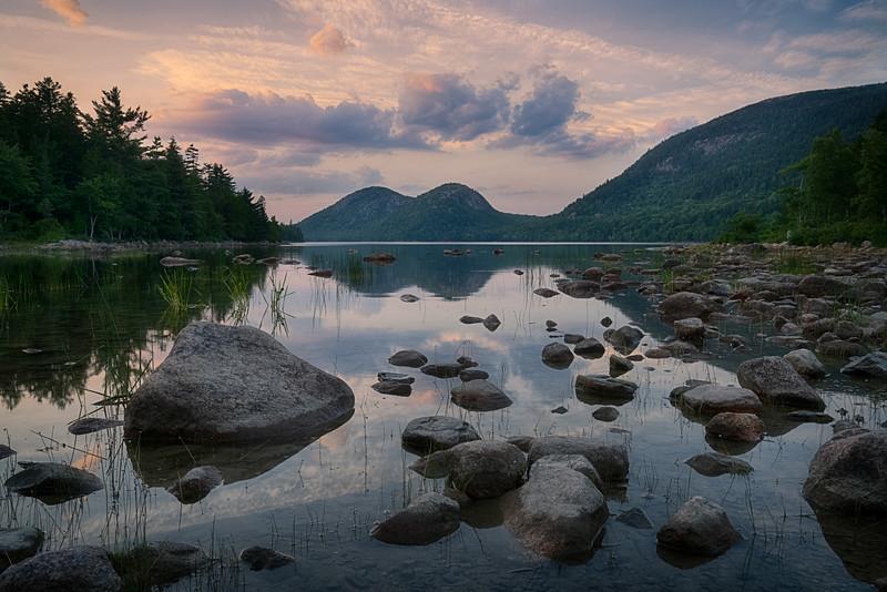Sunset, Jordan Pond, Acadia National Park, Maine