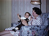 Christmas 1957 - Tom & Mom's mom. ©1957 Richard Eckart. All rights reserved. <br /> Camera: unknown