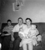1956 Summer - Carl-Rosie with Bill & Tom