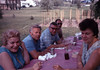 Picnic 1971 - left to right: Minnie DeVita, Nick DeVita, Albert DeCouzzio, Bill Stanziale & Ann Stanziale<br />                       Strawberry garden in background by Tom Stanziale