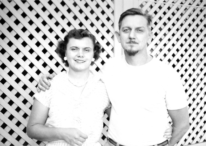 My mother and grandfather.